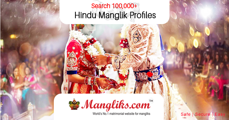 Indian Online Matrimony Site    100,000 Lakhs + Verified Profiles   Mangliks.com