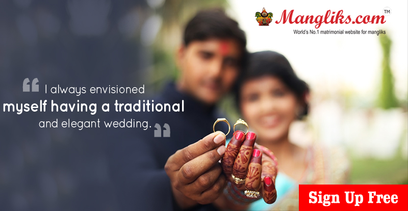 Mangliks.com is an Indian Matrimonial website