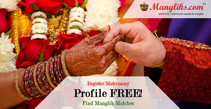 Find Hindi, Punjabi, Marathi, Bengali, Konkani, Kashmiri, Gujarati, Tamil, Telugu, Oriya Manglik Girls & Boys Rishtey/Profiles for marriage.