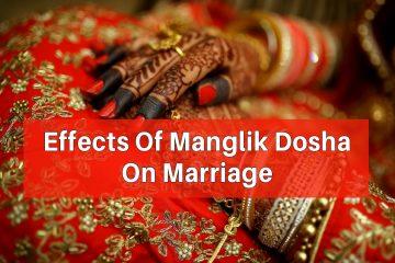 Effects Of Manglik Dosha On Marriage