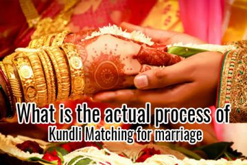 What is the actual process of Kundli Matching for marriage