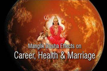 Manglik Dosha Effects on Career, Health & Marriage